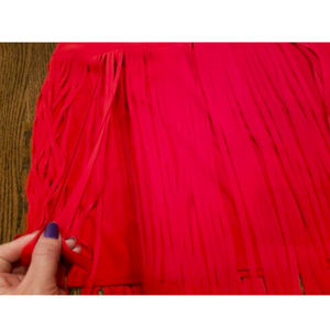 Lane Bryant Skirts - Lane Bryant red skirt fringe size 28 Valentine